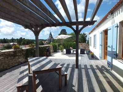 Photo for Recently Built Hillside House on the edge of a small town in South Vendee
