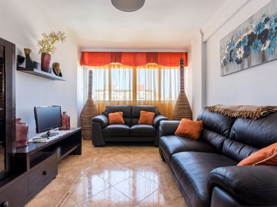 Photo for Luminous Apartment In Central Location Close to Beach with Air Conditioning & Wi-Fi