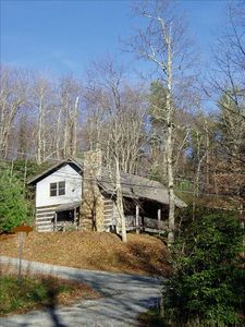Photo for 4BR Log Cabin on Old Campground - Secluded Yet Convenient Area