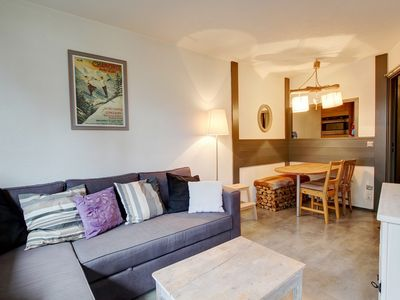 Photo for Comfortable 1-bedroom apartment in a quiet central part of Chamonix.