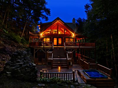 Waterfall View Luxury Log Home Maggie V VRBO