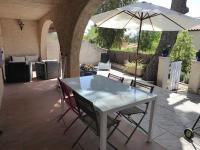 Photo for Olivier T3 with large terrace on the ground floor of my house 400m from the beach offered SPA
