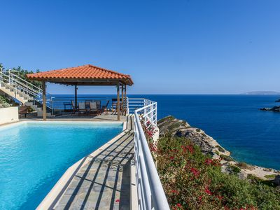 Photo for Stunning villa Andromeda with private pool, amazing sea views above a beach