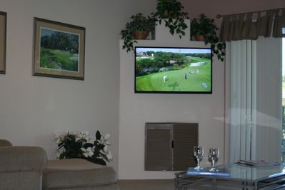 Living Room with LED HD Tv