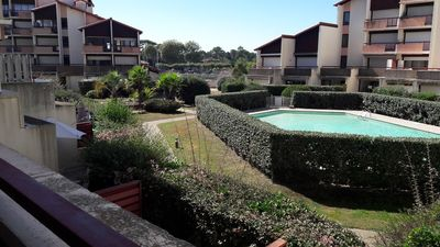 Photo for Large apartment with communal pool at the Port of Capbreton