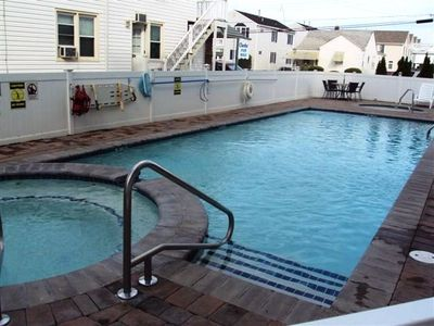 1st Pool with Hot Tub, Kiddy Pool and Eating Area