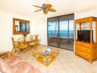 Photo for Ocean's Edge Bliss! Modern Kitchen, Lanai Off Master, WiFi, Flat Screen–Paki Maui 104