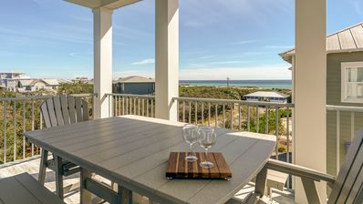 Photo for The Palmetto Blue 30A Inlet Beach Rental House with great gulf views + bikes!