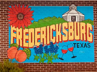 Take your picture in front of the only B&B in town with a mural.