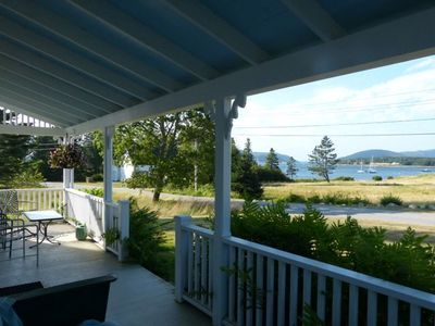 View up Somes Sound from the front porch.