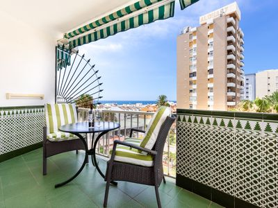 Photo for Seaside Apartment Aloha Carihuela Close to Beach with Balcony, Sea Views & Wi-Fi