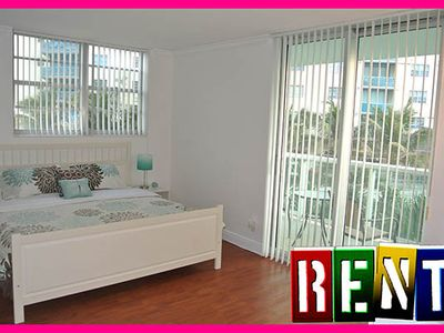 Photo for Ocean Dr 2o Furnished Right On The Beach Ocean Front Apt Hollywood Miami