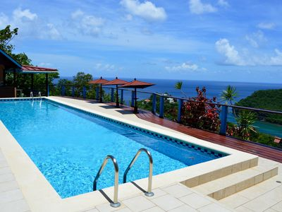 Photo for Chateau Mygo Panoramic-amazing view of Marigot Bay, 2 bedroom with amazing Pool