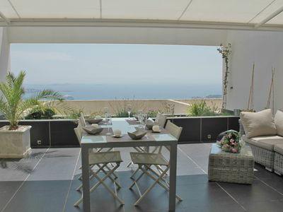 Photo for T2 sea view, large terrace, residence with swimming pool