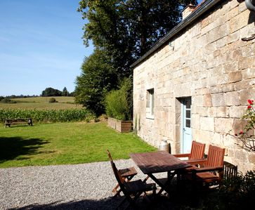 Photo for Charming 2-bed gite on beautiful 2-acre site, sleeps 5, plus cots.