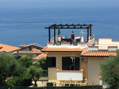 Photo for House/Villa with panoramic seaview, close to Tropea, Zambrone hills