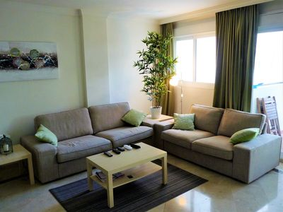 Photo for 110m2 apartment between sea and golf. Ideal for family