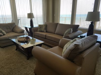 Photo for Gulf Crest-3BR/2BA Bunks-8th Floor--Beach Chairs Incl - Book now for Spring!