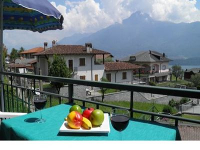 Photo for Holiday apartment Casa Rosi is in a sunny, open location and offers a beautiful view of the lake