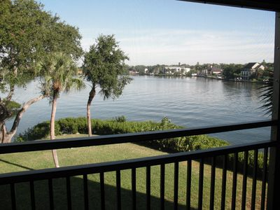 Photo for 2 bdrm, 2 bth overooking intercoastal waterway, steps from #1 beach in USA!