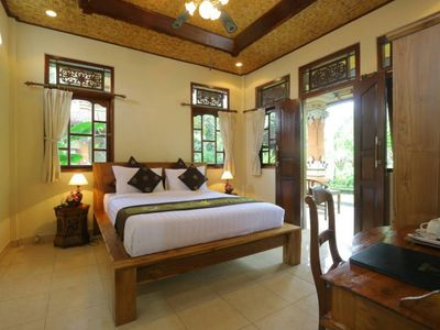 Photo for Authentic Balinese Rooms in the heart of Ubud, Tropical Garden View (std)