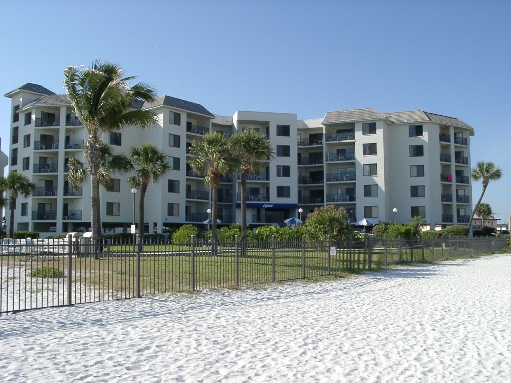 St Pete Beach house rental - Front of house located on the end of culdesac  on the point of Boca Ciega Bay.