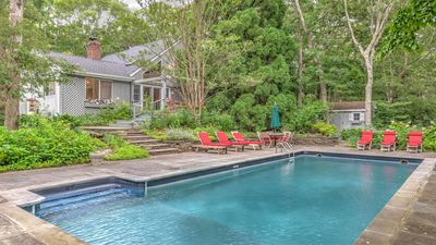 Photo for Lush, Wooded Retreat in East Hampton on a Full Acre w/ Private Pool, High Ceilings, Roomy Layout