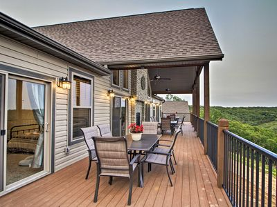 Photo for NEW! Grand Branson Cabin w/ Table Rock Lake View