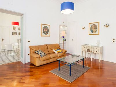 Photo for Spacious Luxury Plebiscito apartment in San Ferdindando with WiFi, air conditioning, balcony & lift.