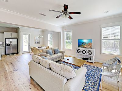 Photo for New Listing! Brand New Retreat w/ Pool & Private Dock -- Walk to Beach