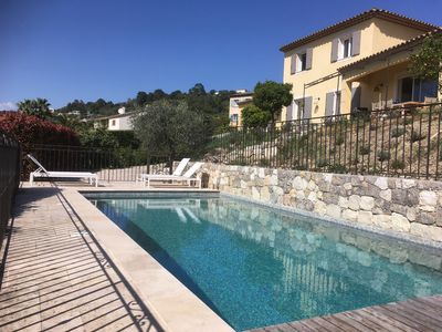 Photo for Biot, beautiful air-conditioned villa with pool, close to the village and beaches