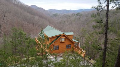 Photo for Breath-Taking MTN Views Luxury Log Cabin At Its Best - Minutes to Pigeon Forge