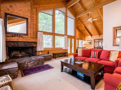 Photo for Mountain view home w/private sauna, hot tub & direct access to Big Wood River