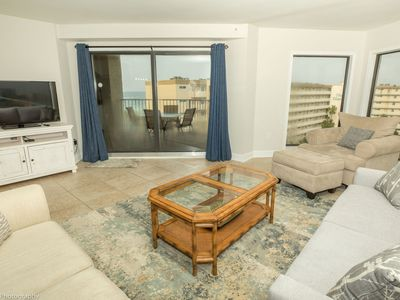 Photo for IR 619 - 3 BR End unit with amazing sunset views- sits beachside
