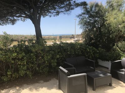 Photo for Apartment 8-10 people modern sea view 50m from the beach