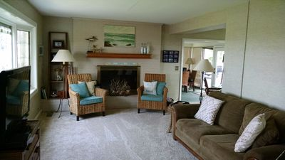 Family room with a great view of Lake Erie