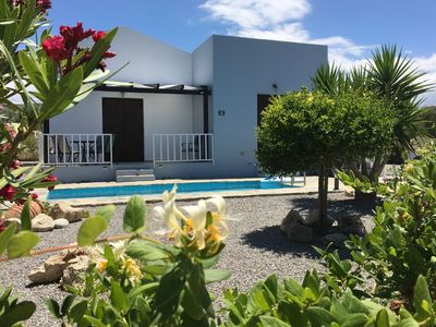 Photo for New beautiful villa with private pool and sea view, near small village, NW coast