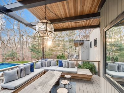 Photo for NEW LISTING! Chic Beach House | Heated Pool | Moments to Beach + Town