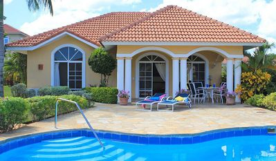 Photo for 2BD guest-friendly villa in central Sosua with private pool, near beach/clubs