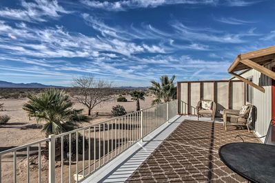 Immerse yourself in the desert at this 2-bedroom, 1.5-bath Yucca condo!