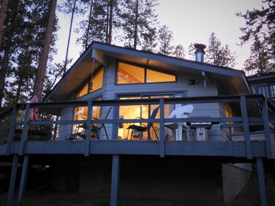 Photo for Next Door to Heaven, Lakeside cottage with boating, hiking, wildlife, near RMNP