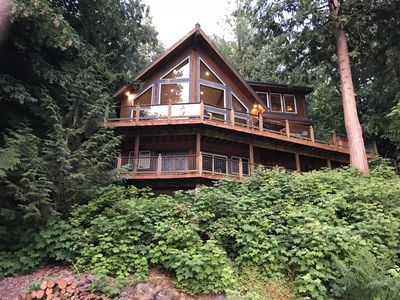 Photo for Silver Lake Chalet #07 - Unsurpassed lakefront views from this spectacular pet-friendly cabin!