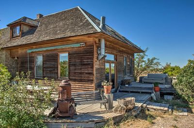 This converted schoolhouse has plenty of rural historic charm.