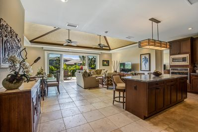 The home has an open floor plan where you can enjoy quality family time