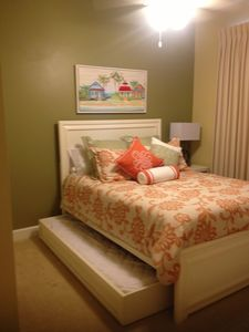 2nd bedroom with queen bed and twin pull out bed