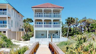 "Photo for Ready Now- No Storm Issues! FREE BEACH GEAR! Beachfront, Plantation, Pool, Private Boardwalk, 5BR/5.5BA ""Brisa De Mar"""