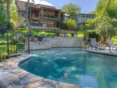 Photo for 5BR/5BA Lake Austin Estate With Boat Dock and Hot Tub Overlooking the Water!