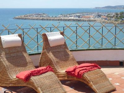 Photo for Barcelona Sitges with the tranquility of an apartment 15 meters above the sea