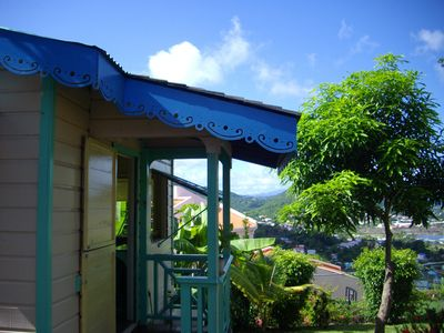Photo for Top of the hill cottage, 2/3 people - Rodney Bay