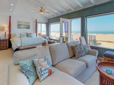 Photo for NEW LISTING! Bright oceanfront house with ocean views & easy beach access!